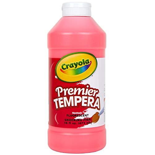 Crayola Neon Tempera Paint, Pink Kids Paint, 16 Ounce Squeeze Bottle