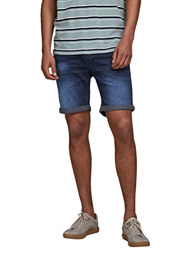 JACK & JONES Herren Jeansshorts Rick Icon GE 011 LBlue Denim