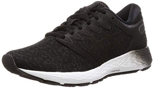 Asics Roadhawk FF 2 MX Neutralschuh Damen-Dunkelgrau, Schwarz, Zapatillas de Running Calzado Neutro para Mujer, Dark Grey/Black, 38 EU