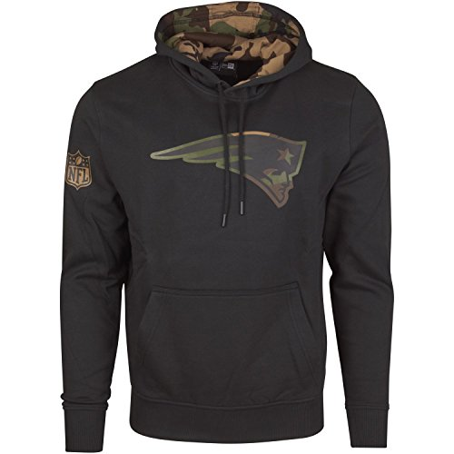 New Era Fleece Hoody - NFL New England Patriots schwarz - L