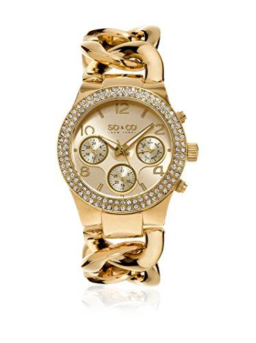 SO & CO New York Reloj de Cuarzo Woman Gold Tone Chain Bracelet 38 mm