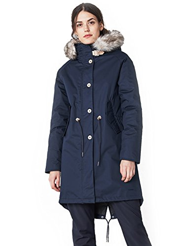 Elvine Fishtail Damen Winterjacke, Parka, Mantel, Jacke 2017 Herbst/Winter, navy (140), XS