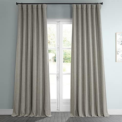 HPD Half Price Drapes BOCH-LN185-P Faux Linen Room Darkening Curtain (1 Panel), 50 X 108, Oatmeal