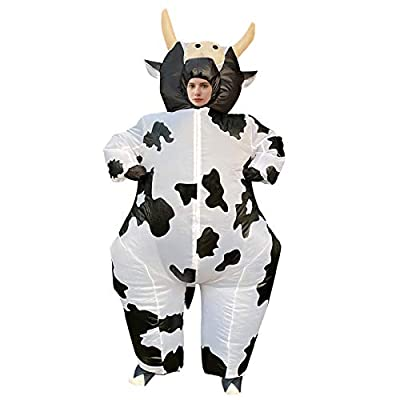 Arokibui Inflatable Cow Costume for Women Funny Animal Blow up Costume for Halloween Cosplay Party Festival Unisex Costume Adult Size by