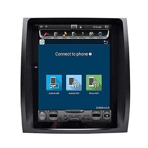 FDGBCF 2 DIN Car Stereo Sat Nav con Pantalla táctil de 10 4 Pulgadas Navegador GPS Control del Volante Música Bluetooth Radio Dab - Aplicable para Lexus GX470 Player Am FM
