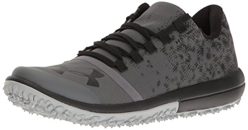 Under Armour Women's Speed Tire Ascent Low Running Shoe, Rhino Gray (076)/Black, 5.5