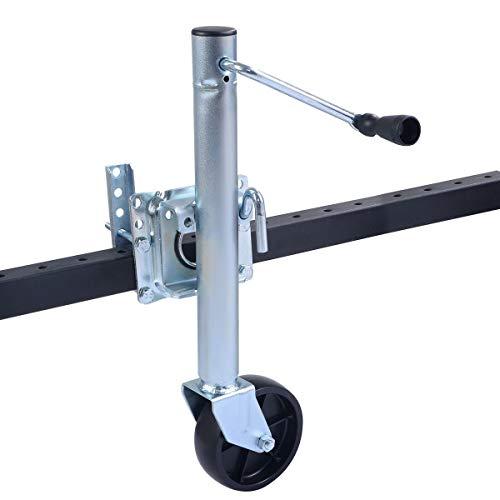 S AFSTAR Safstar Swivel Wheel Bolt-On 1000Lbs Capacity Trailer Jack (1)
