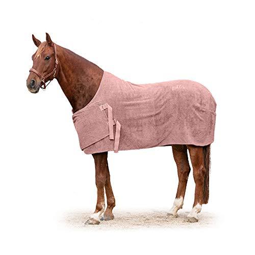 Lill's Manta para caballos, 100% algodón orgánico, orgánico, rosa, caballos, sostenible (XL, longitud de espalda de 170 cm)