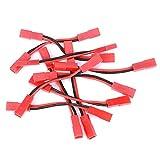 Black Red JST Cable Cable, Silicona y plástico Hecho 10pcs Cable de Cable para batería de Modelo de Coche RC