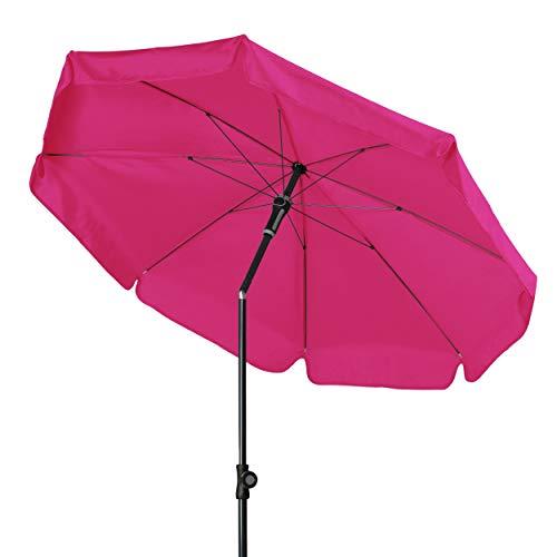 Doppler - Hochwertiger Sonnenschirm für den Balkon - Knickbar - Wetterfest - UV-Schutz 50+ - Fuchsia - 150 cm