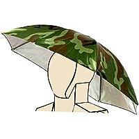 xj Sombrero Plegable Paraguas de Sol al Aire Libre Golf Pesca Camping Sombreros Cap Cabeza Hat (1pcs).