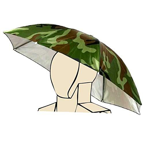 Elastisches Stirnband-Tarnungs-Muster Sun-Regen-Regenschirm-Hut-Kappe für Fischen-Strand-Golf- Armee-Grün-Handfreies Headwear-Schatten-Gartenarbeit-Fotografie-wandernder Hut, Bunte Neuheit durch So