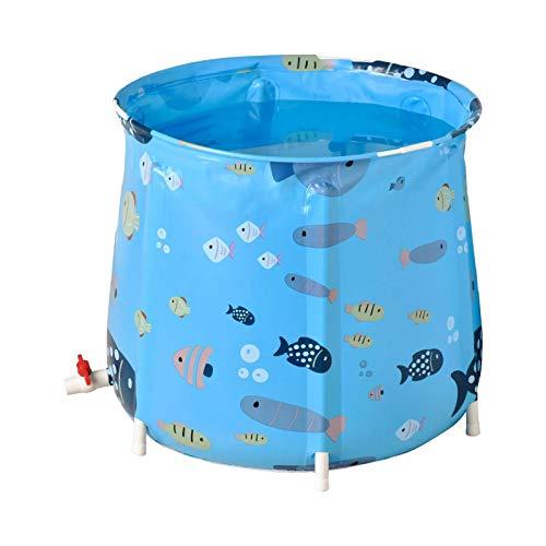 WLPTION Tragbare Faltbare Badewanne, Badewanne für Duschkabine, ideal für heißes Eisbad