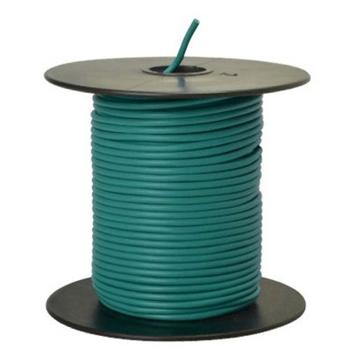 Southwire 55835023 Primary Wire, 18-Gauge Bulk Spool, 100-Feet, Green