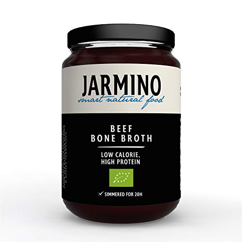 JARMINO brodo biologico di ossa di manzo (6x 350ml) | collagene naturale e acido ialuronico | bone broth | organico e puro al 100% | Bevanda salutare o come base per zuppe e salse