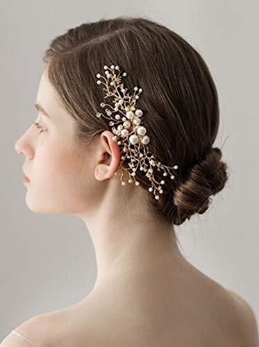 Fxmimior Mariage Peigne à cheveux Bridemaid Rose Sakura Bal Cristal Coiffe Strass Bijoux Vintage Feuille Peignes Perles gothique Cristal Accessoires Cheveux