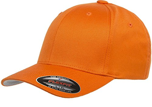Original FLEXFIT Baseball Cap in versch. Farben (S/M - bis 58 cm, Spicy Orange) S/M - bis 58 cm,Spicy Orange