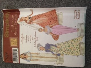 Simplicity 7089 Sewing Pattern Simplicity Museum Collection, 11.5-Inch Fashion Doll, Patterns for Napoleonic, Grecian, Pre-War and Italian Renaissance