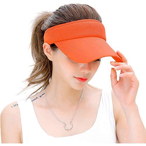 Fasbys Summer Outdoor Sports Beathable Long Brim Empty Top Baseball Sun Cap Hat Visor (Orange)