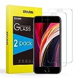SPARIN [2-Pack Protector Pantalla iPhone 8/7/6s, Cristal Templado iPhone 8/7/6s, Vidrio Templado con [Sin Cobertura Toda Pantalla] [9H Dureza] [Alta Definicion]