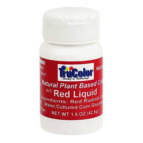 TruColor Natural Plant-Based Liquid Color 1.5 Ounces (42.5 Grams), Red