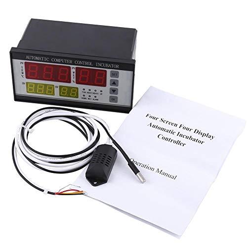Controlador de incubadora Automático, Multifuncional Automático Incubador Termostato Temperatura Humedad Controlador Kit con sensores, suministros para el cuidado de aves de corral