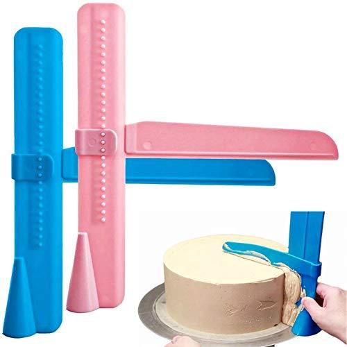 Fondant Deko, EKKONG 2er Pack Einstellbare DIY Modellierwerkzeug Fondant Kuchenschaber zum Auftragen von Zuckerguss auf Kuchen