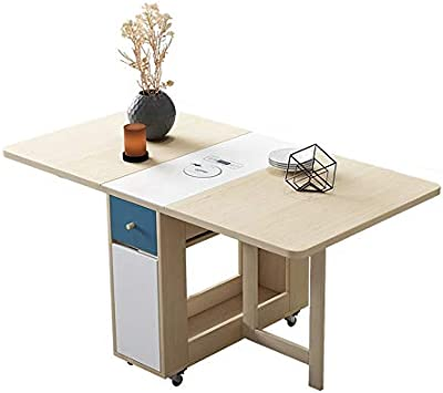JCCOZ-T 1.5m Folding Dining Table with Induction Cooker Set Solid Wood Kitchen Furniture Solid Small Apartment Countertop Dining Table JCCOZ-T (Color : Table)
