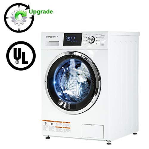 BestAppliance Combination TurboWash 2.7Cubic. ft. Capacity Compact Laundry 24' Electric Dryer and Washer Stainless Steel Drum With FourTransport Bolts,White, Upgrade