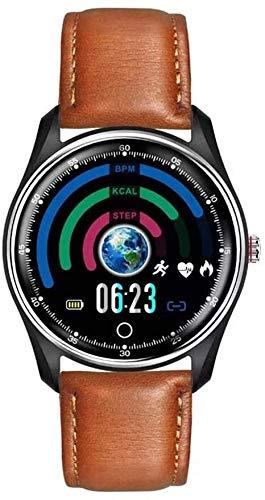 SMLCTY Inteligente Reloj Multifuncional Deportivo Reloj Elegante de Alto Rendimiento Soporte procesador de bajo Consumo for la Alarma IP68 a Prueba de Agua Pulsera Inteligente for Android iOS
