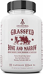 Ancestral Supplements Grass Fed Bone and Marrow — Whole Bone Extract (Bone, Marrow, Cartilage, Collagen). See Other Ingred...
