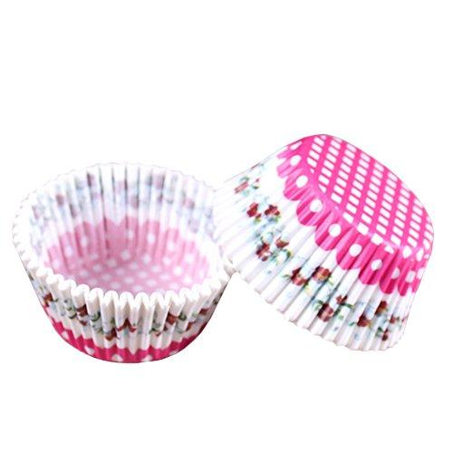 Beiersi Lot de 100 Caissettes Cupcake Muffin Papier pour Moules en Papier Pâtisserie Décor