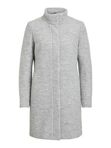Vila Female Mantel Stehkragen Woll 44Light Grey Melange