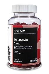 Amazon Brand - Solimo Melatonin 5mg, 120 Gummies (2 Gummies per Serving)