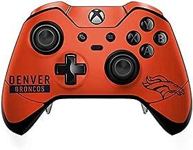 Skinit Decal Gaming Skin for Xbox One Elite Controller - Officially Licensed NFL Denver Broncos Orange Performance Series Design