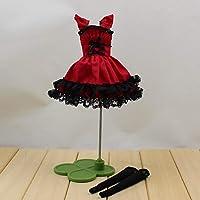 ブライス人形おもちゃスーツ氷共同体衣装ファッション赤ドレスとレギンスドレス