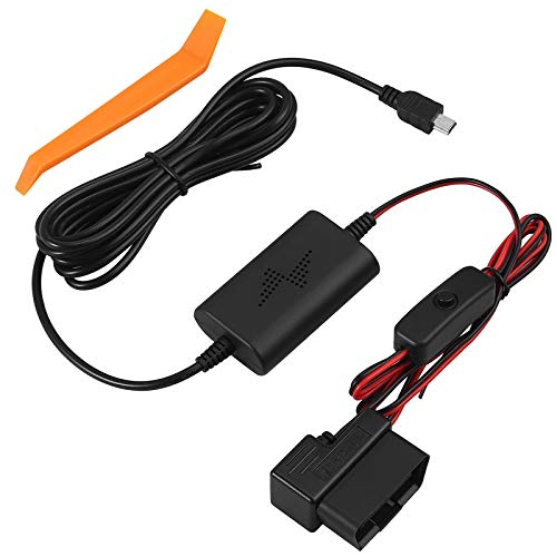 CAMWAY Universeller Dash Cam HardWire Kit, Auto-Recorder OBD Dash Cam Hard Wire Kit Micro-USB-Anschluss, mit Niederspannungsschutzfunktion, für Auto Recorder Dash Cam