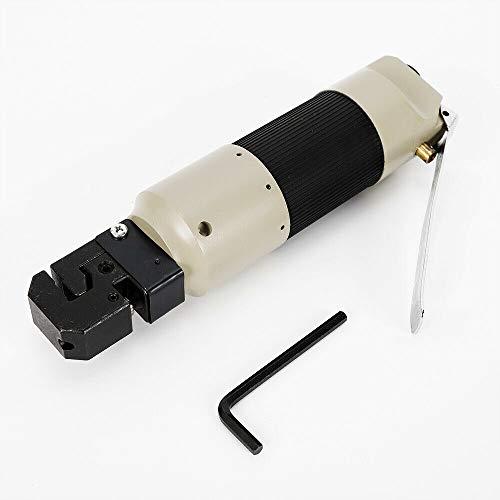 Alicates de perforación de aire comprimido, 5 mm, herramienta para carrocería, alicates de pliegues para chapa, grosor de corte 0,8 – 1,2 mm, aleación de cinc