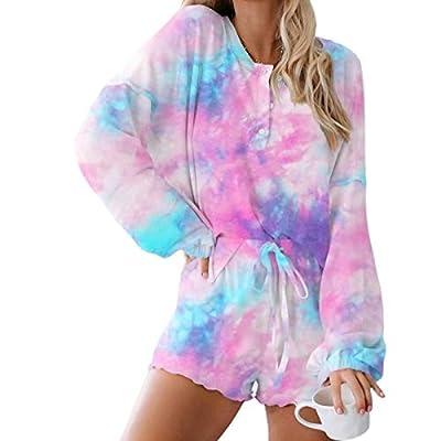 Amazon - 42% Off on Pajama Sets for Women, Tie Dye Sleepwear Shorts Set, Ladies Grils Casual