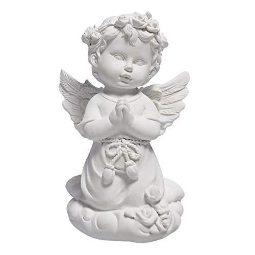 Exceart - Statuetta decorativa a forma di angelo, statuetta decorativa da giardino, statua...