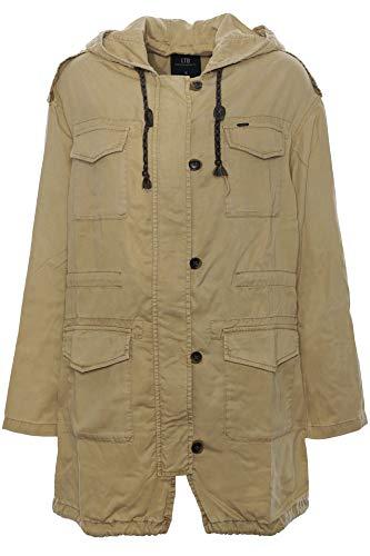 LTB Masik Parka Mantel Jacke Anorak Damen, Farbe:Camel, Damengrößen:L