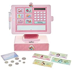 Sleek cash register includes sounds and phrases Features water-activated signature pad for realistic play Credit card swipe feature adds additional shopping fun Includes real working calculator, play money & drawer for storage Requires 2 x AAA batter...