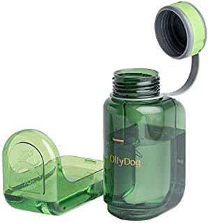 OllyDog OllyBottle, BPA-Free Plastic Portable Dog Water Bottle, Small Large Dog Accessories, Puppy Water Dispenser with De...