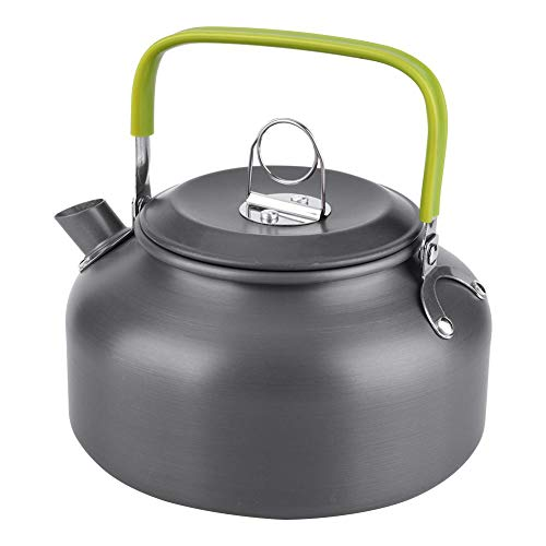 Outdoor Portable Coffee Pot Camping Water Kettle Hiking Picnic BBQ Teapot Aluminum Quick-Heat & Anti-scalding 800ML