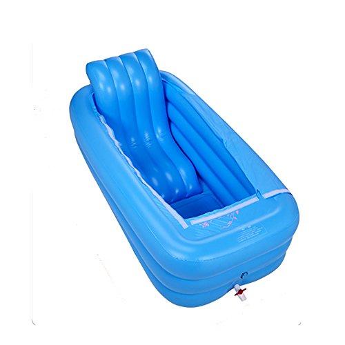 KTYX Bañera Inflable Caliente Adicional de la bañera Plegable Grande del baño Adulto (Color : Blue)