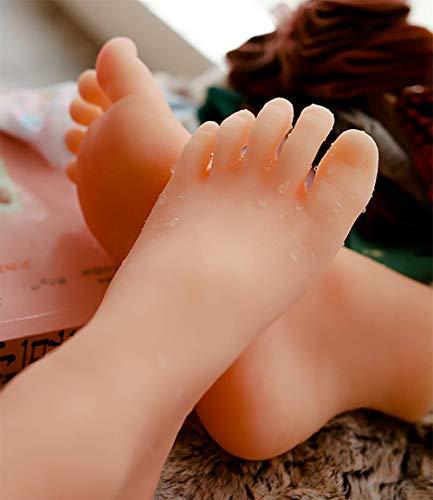 4,75 Zoll Baby Fuß Silikon Schaufensterpuppe, lebensechte Textur Füße Modell für Baby Schuh Stiefel Socke Display Fotografie Requisiten,Leftfoot