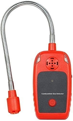 Qjkmgd Detector de medidores de Fugas de Gas Combustible: Detector de probador de Gas Natural portátil con detección de Fugas de Gas de Cuello de Sensor Flexible