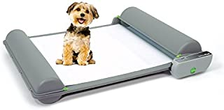 BrilliantPad Self-Cleaning, Automatic Indoor Dog Potty for Puppies and Small Dogs (Original Machine w/Out Drip Lip), Incl 1 Roll