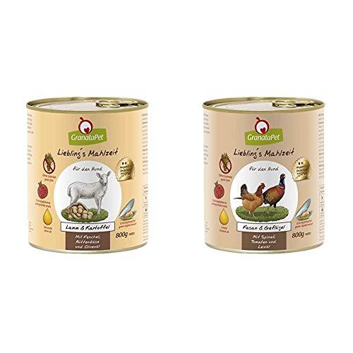 Liebling's Mahlzeit Nassfutter Lamm & Kartoffel, 6er Pack (6 x 800 g) & Nassfutter Fasan & Geflügel, 6er Pack (6 x 800 g)