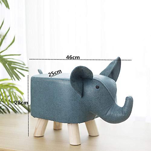 hamacy Sitztier Polsterhocker Tierhocker für Kinder -Blauer Elefant